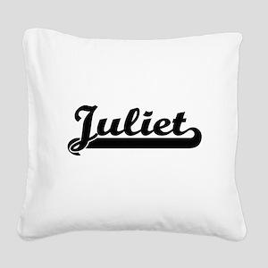 Juliet Classic Retro Name Des Square Canvas Pillow