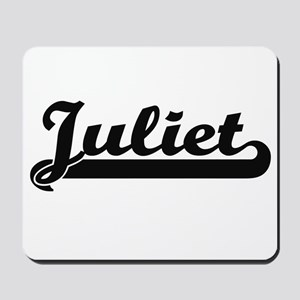Juliet Classic Retro Name Design Mousepad