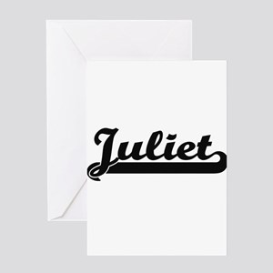 Juliet Classic Retro Name Design Greeting Cards