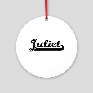 Juliet Classic Retro Name Design Ornament (Round)
