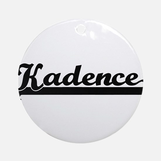 Kadence Classic Retro Name Design Ornament (Round)