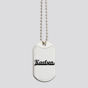 Kaelyn Classic Retro Name Design Dog Tags