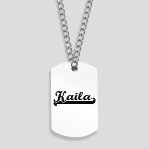 Kaila Classic Retro Name Design Dog Tags