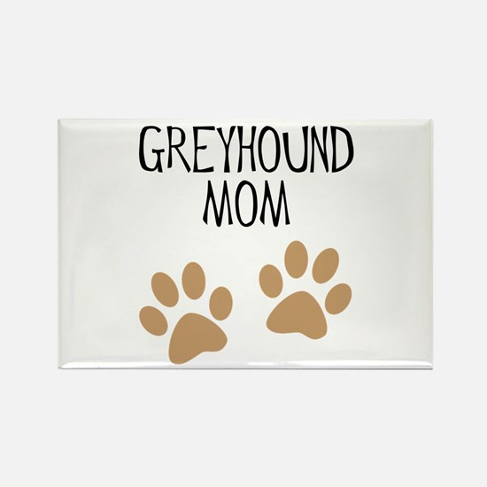Greyhound Mom Rectangle Magnet
