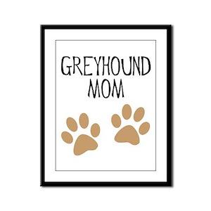 Greyhound Mom Framed Panel Print