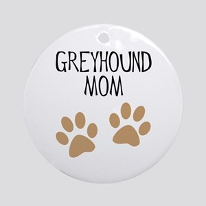 Greyhound Mom Ornament (Round)