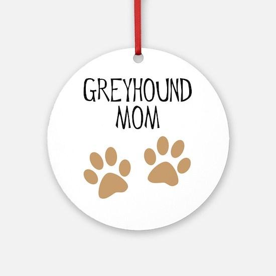 Greyhound Mom Ornament (Round)