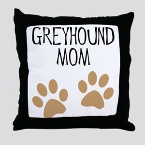 Greyhound Mom Throw Pillow