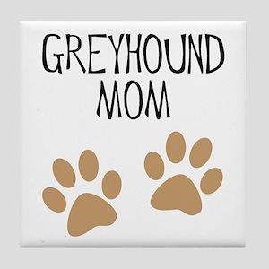 Greyhound Mom Tile Coaster