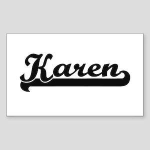 Karen Classic Retro Name Design Sticker