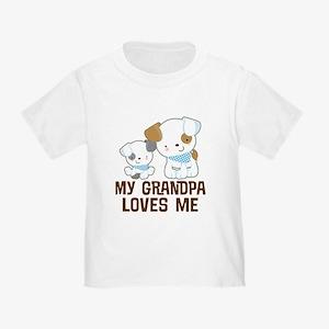 My Grandpa Loves Me Toddler T-Shirt