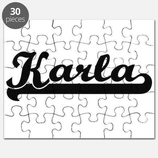 Karla Classic Retro Name Design Puzzle