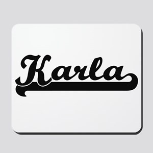 Karla Classic Retro Name Design Mousepad