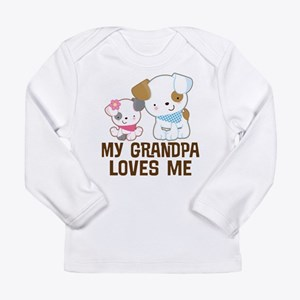 My Grandpa Loves Me Long Sleeve Infant T-Shirt