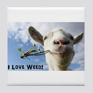 Weed Goat Tile Coaster