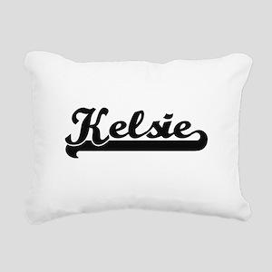 Kelsie Classic Retro Nam Rectangular Canvas Pillow
