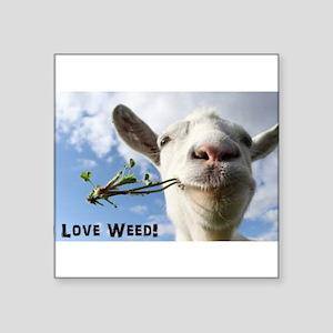 Weed Goat Sticker