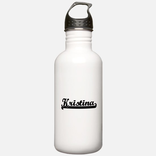 Kristina Classic Retro Sports Water Bottle