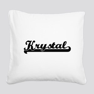 Krystal Classic Retro Name De Square Canvas Pillow