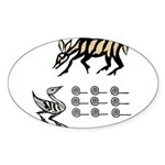 Malawi Africa Oval Sticker