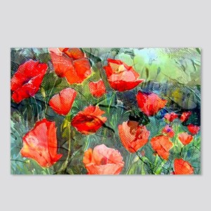 Abstract Poppies Painting Postcards (Package of 8)