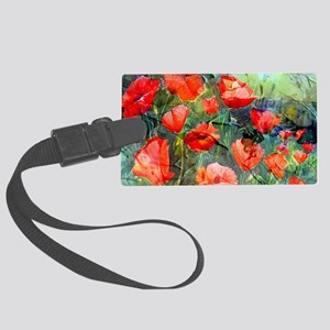 Abstract Poppies Paintings on Ca Large Luggage Tag