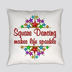 Square Dancing Sparkles Everyday Pillow