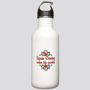 Square Dancing Sparkle Stainless Water Bottle 1.0L