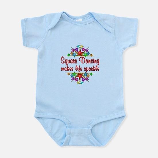 Square Dancing Sparkles Infant Bodysuit