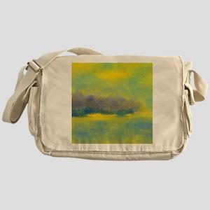 Landscape in Gold, Purple, and Blue Messenger Bag
