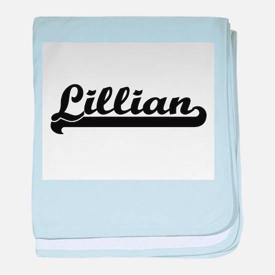 Lillian Classic Retro Name Design baby blanket