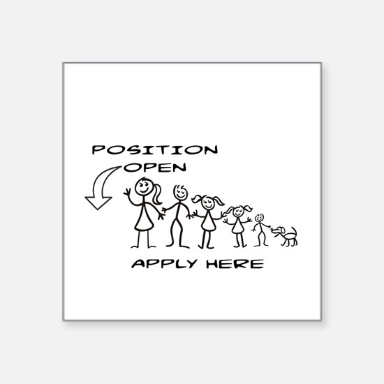 STICK FIGURE FAMILY - POSITION Sticker