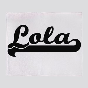 Lola Classic Retro Name Design Throw Blanket