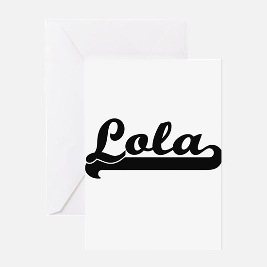 Lola Classic Retro Name Design Greeting Cards