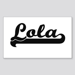 Lola Classic Retro Name Design Sticker
