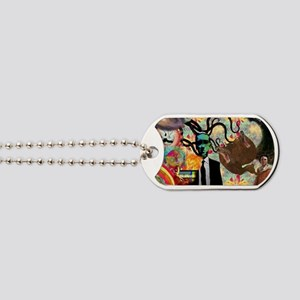 Trippy frankenstien  Dog Tags