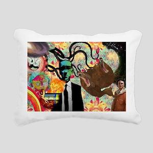 Trippy frankenstien  Rectangular Canvas Pillow