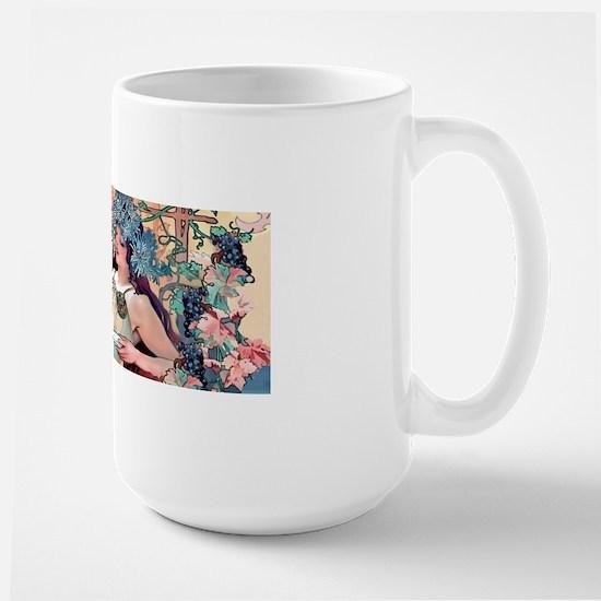 Mucha Autumn Grapes  Large Mug
