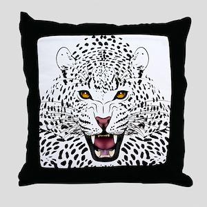 Fierce Leopard Throw Pillow