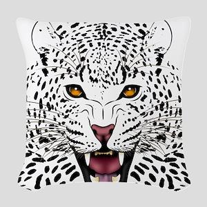 Fierce Leopard Woven Throw Pillow