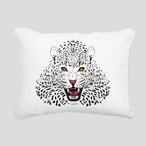 Fierce Leopard Rectangular Canvas Pillow