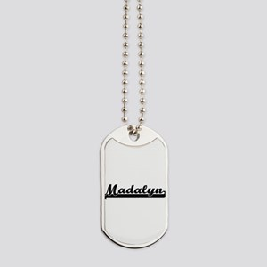 Madalyn Classic Retro Name Design Dog Tags