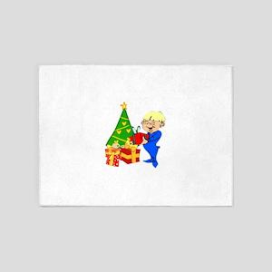Christmas Morning Kid 5'x7'Area Rug