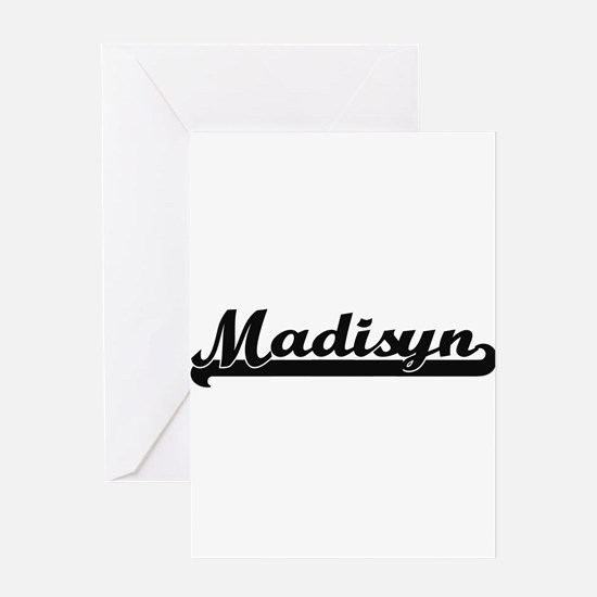 Madisyn Classic Retro Name Design Greeting Cards