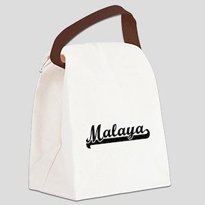 Malaya Classic Retro Name Design Canvas Lunch Bag