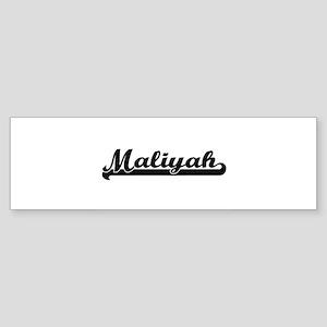 Maliyah Classic Retro Name Design Bumper Sticker