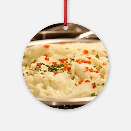 Mashed Potatoes Ornament (Round)