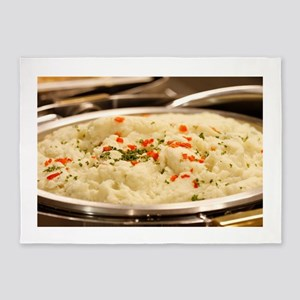 Mashed Potatoes 5'x7'Area Rug
