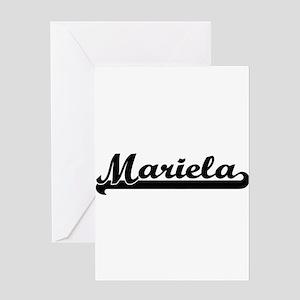 Mariela Classic Retro Name Design Greeting Cards