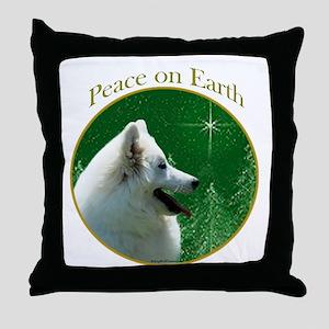 Eskimo Dog Peace Throw Pillow